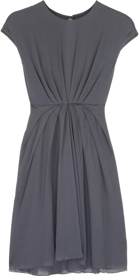 Rick Owens Georgette pleated dress