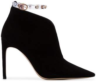 Sophia Webster black dina 100 suede leather boots