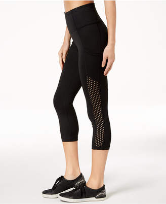 Calvin Klein Mesh-Side High-Rise Cropped Leggings