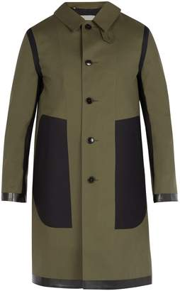 MACKINTOSH Contrast-panel bonded-cotton overcoat