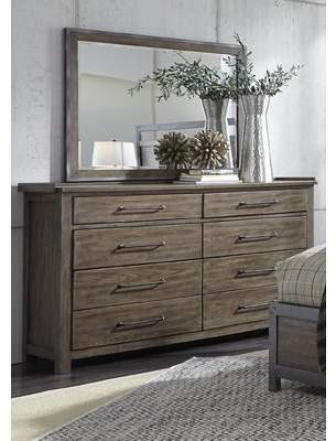 ... Clayton Gracie Oaks 8 Drawer Double Dresser With Mirror
