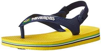 Havaianas Baby Brazil Logo Thong Sandal (Toddler)