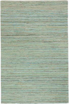 Jaipur Dotts Rugs Green Flat Weave Rug