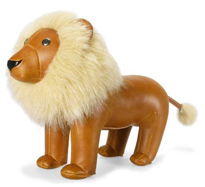 Stuffed Lion Bookend / Toy