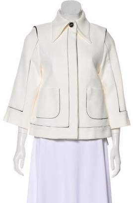 Chanel Silk-Trimmed Piqué Jacket w/ Tags