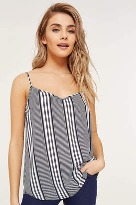 f71b7b7e47ad01 Ardene Basic Striped Chiffon Tank Top