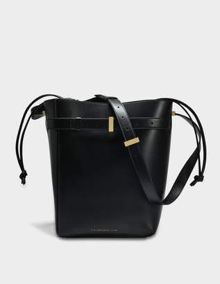 Victoria Beckham Twin Bucket Bag in Black Calf Leather