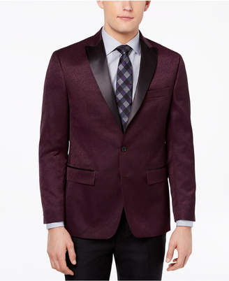 Ryan Seacrest Distinction Ryan Seacrest DistinctionTM Men's Modern-Fit Burgundy Textured Dinner Jacket, Created for Macy's
