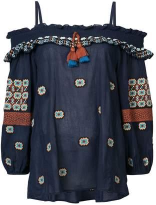 Figue Helena cold-shoulder blouse