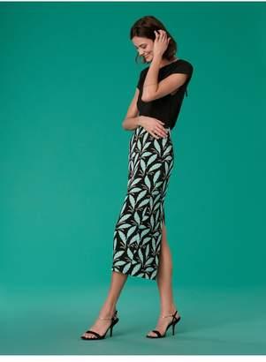 Diane von Furstenberg Cap Sleeve Ruched Neck Shell