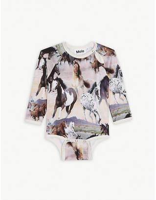 Molo Fonda wild horses bodysuit 6-12 months
