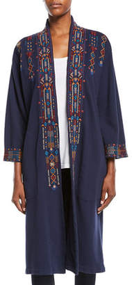 Johnny Was Cleo Embroidered Long Coat