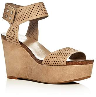 VINCE CAMUTO Valamie Perforated Platform Wedge Sandals $129 thestylecure.com