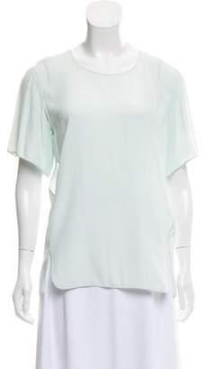 Alexander Wang Semi-Sheer Short Sleeve Top Mint Semi-Sheer Short Sleeve Top