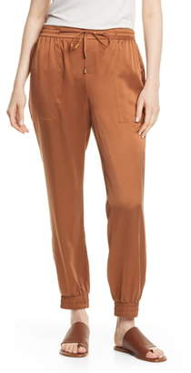 Eileen Fisher Drawstring Silk Ankle Pants