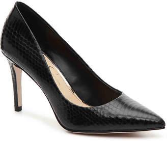 c3aff8484e7 Jessica Simpson Black Leather Pumps - ShopStyle