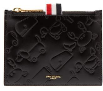 Thom Browne Toy Icon Embossed Leather Coin Purse - Mens - Black