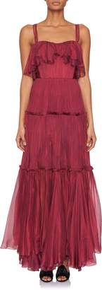 Maria Lucia Hohan Nora Tiered Ruffle Gown