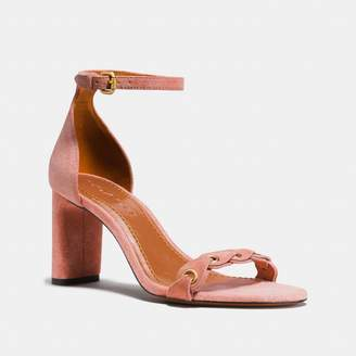 Coach Heel Sandal With Link