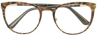 Etro printed square frame glasses