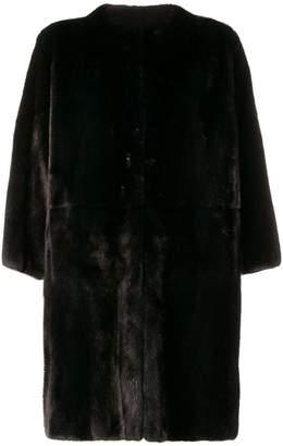 P.A.R.O.S.H. mid-length fur coat