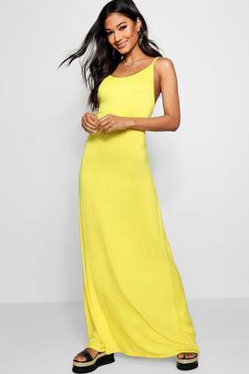boohoo Strappy Low Back Maxi Dress