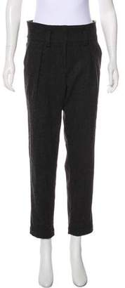 Burberry High-Rise Straight-Leg Pants
