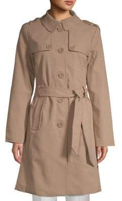 Kate Spade Patchwork Spread Collar Raincoat