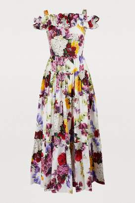 Dolce & Gabbana Hortensia long dress