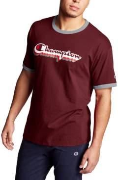 Champion Men's Logo Ringer T-Shirt