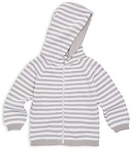 Kissy Kissy Women's Baby Boy's Rugby Stripe Knit Hooded Cotton Jacket