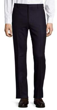 Solid Flannel Wool Pants