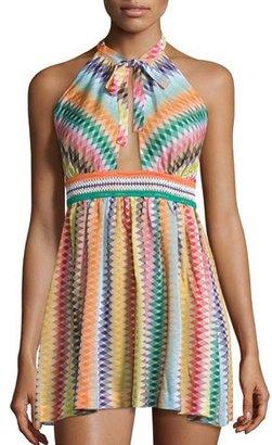 Missoni Mare Zigzag Beach Coverup Dress, Multicolor $695 thestylecure.com