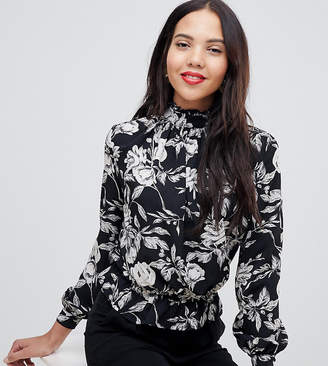 Parisian Tall high neck floral blouse