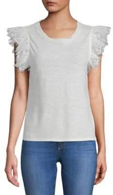 Ruffle Linen T-Shirt