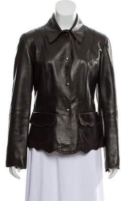 Barneys New York Barney's New York Leather Short Jacket