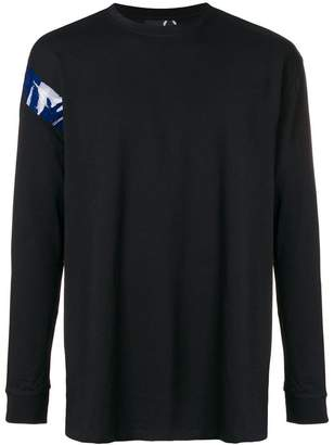 Fred Perry longsleeved logo patch T-shirt
