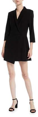 Alice + Olivia Brenda Shawl-Collar Crossover Dress