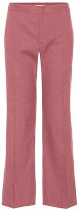 Etoile Isabel Marant Isabel Marant, Étoile Oxy linen-blend cropped trousers