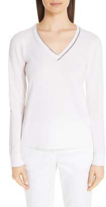 Fabiana Filippi Chain Trim Cashmere Sweater
