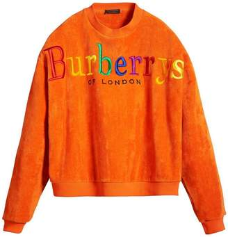 Burberry Archive Logo Towelling Sweatshirt