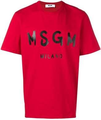 MSGM brushstroke logo T-shirt