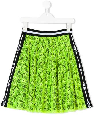 MSGM Kids neon lace skirt