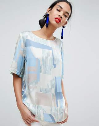 MBYM Abstract Print Shell Top