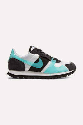 Nike V-love O.x. Suede, Pvc And Elastic-trimmed Mesh Sneakers - Black