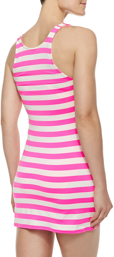 Juicy Couture Horizontal-Striped Jersey Cover-Up Dress