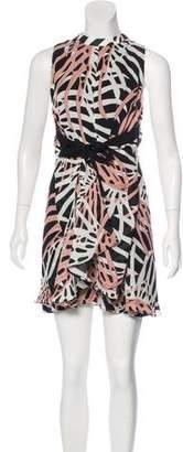Proenza Schouler Abstract Print Silk Dress w/ Tags