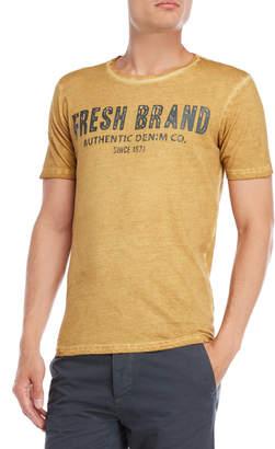 Fresh Brand Mustard Logo Burnout Tee