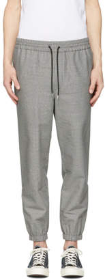 McQ Grey Houndstooth Tailored Track Trousers
