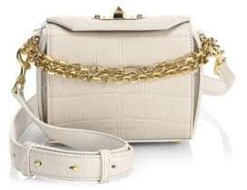 Alexander McQueen Croc-Embossed Box Bag